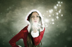 Kissing Christmas Stock Photo