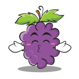 Kissing closed eyes grape character cartoon collection Stock Photography