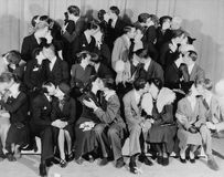 KISSING CONTEST. (All persons depicted are no longer living and no estate exists. Supplier grants that there will be no model release issues Royalty Free Stock Image