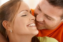 Kissing couple Royalty Free Stock Image