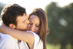 Kissing Couple Stock Photography