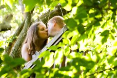 Kissing Couple Stock Images