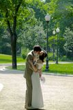 Kissing couple 2. Kissing couple in the park Stock Photo