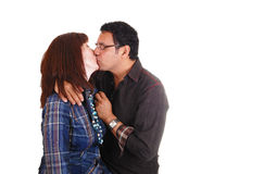 Kissing couple. Royalty Free Stock Image