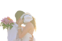 Kissing couple Royalty Free Stock Images