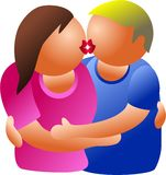 Kissing couple Royalty Free Stock Photos