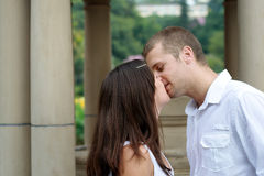Kissing couple Stock Image