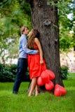 Kissing couple stock photos