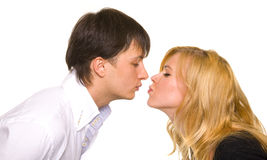 Kissing couple Stock Photos