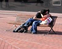 Kissing couple Stock Photo