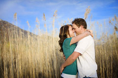 Kissing Couple Stock Image