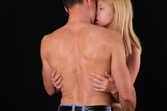 Kissing couple. Love, Sex, Passion, Foreplay,Relationship, Tenderness concept Royalty Free Stock Photos