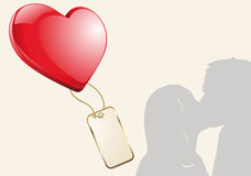 Kissing couple silhouette Royalty Free Stock Photography
