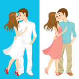 Kissing Couple Styles Stock Images