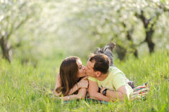 Kissing Couple Stock Photo