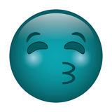 Kissing emoticon style icon Royalty Free Stock Photography