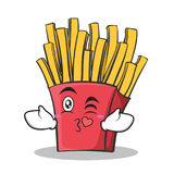 Kissing face french fries cartoon character Royalty Free Stock Images
