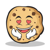 Kissing face sweet cookies character cartoon Royalty Free Stock Photography