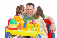 Kissing father Royalty Free Stock Photos