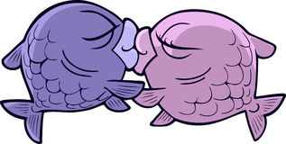 Kissing fish Royalty Free Stock Image
