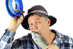 Kissing Fisherman Stock Image