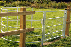 Kissing gate. Royalty Free Stock Photography