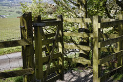 Kissing Gate on the outskirts of Burnley in a shadow of Pendle Hill in Lancashire Royalty Free Stock Photography