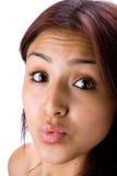 Kissing Girl Stock Photos