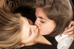 Kissing girls Royalty Free Stock Photos