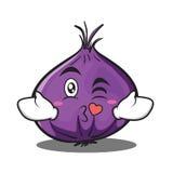 Kissing heart onion character cartoon Stock Photo