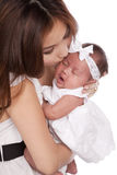 Kissing her baby Royalty Free Stock Photography