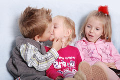 Kissing kids Royalty Free Stock Photography
