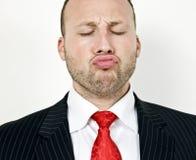 Kissing man Stock Photo