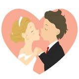 Kissing Married Couple Cartoon Vector vector illustration