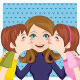 Kissing Mom Stock Photos