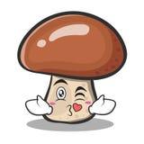 Kissing mushroom character cartoon Stock Image