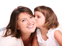 Kissing my mom Royalty Free Stock Image