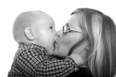 Kissing my mommy Royalty Free Stock Photos