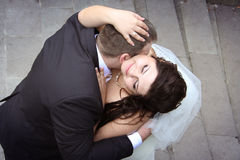 kissing of newlyweds Royalty Free Stock Images