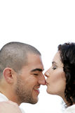 Kissing on the nose Royalty Free Stock Photo