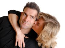 Kissing pair Royalty Free Stock Images