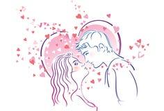 Kissing pair Royalty Free Stock Photos