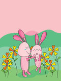 Kissing Rabbit Stock Image