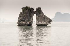 The Kissing rocks Halong Bay Royalty Free Stock Photography