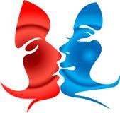 Kissing shape Royalty Free Stock Photos