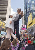 Kissing Statue at Times Square Royalty Free Stock Image