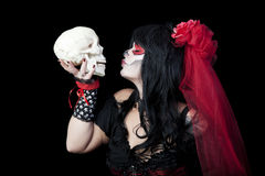 Kissing Sugar Skull Royalty Free Stock Images