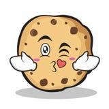 Kissing sweet cookies character cartoon Stock Photography