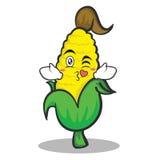 Kissing sweet corn character cartoon Stock Images