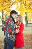 Kissing under tree Royalty Free Stock Image